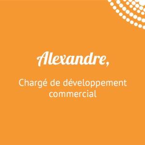 Alexandre, chargé de développement commercial