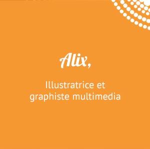 Alix, illustratrice et graphiste multimedia