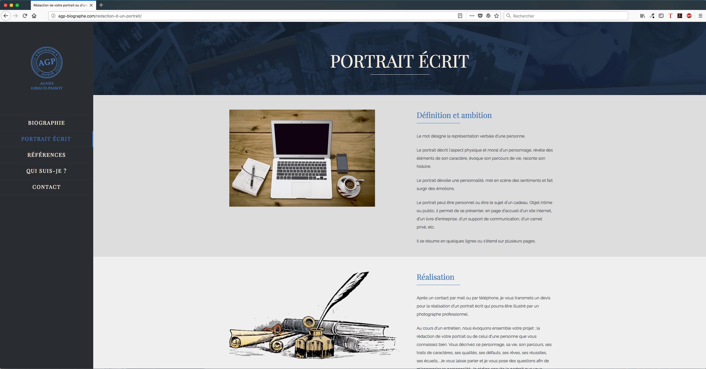 Site internet d'Agnes Giraud-Passot - auteur biographe