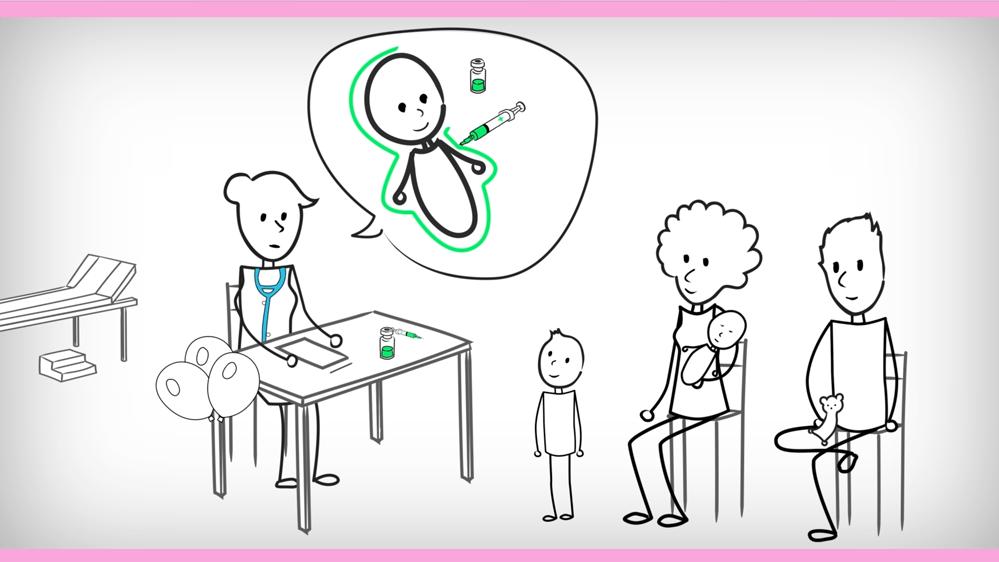Motion design sur les vaccins