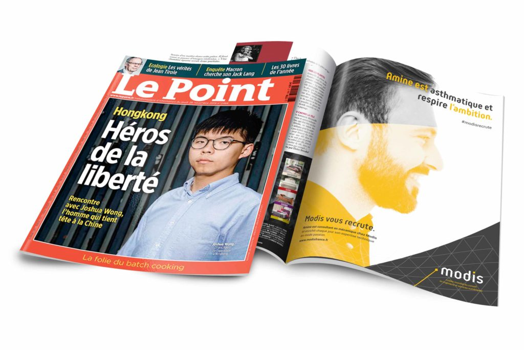 "Publicité ""Modis"" dans le magazine ""Le Point"""